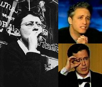 Guy Debord, Jon Stewart, Stephen Colbert