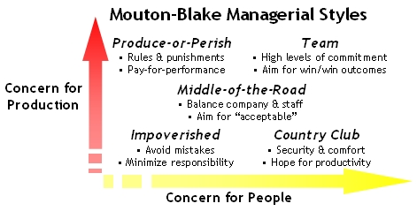 Mouton-Blake Managerial Styles